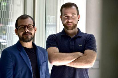 Itsvan (esq.) e Alessandro, no bairro de Palermo