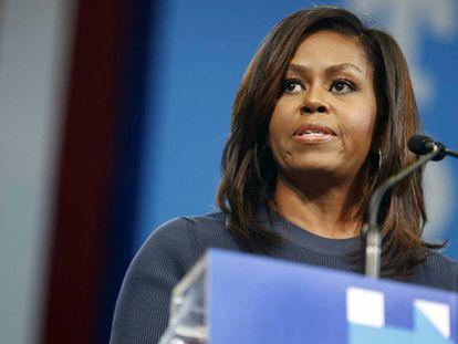 Michelle Obama, quinta-feira em New Hampshire.
