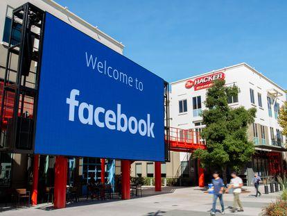 Sede do Facebook em Menlo Park, na Califórnia, em 2019.