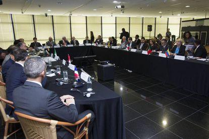Reunião de procuradores de 11 países, em Brasília.