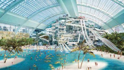 Imagem do projeto do novo shopping de Miami.
