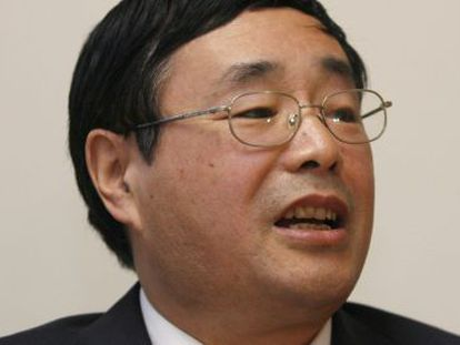 Chen Ziming em conferência de imprensa em Sidney, em 2008.