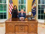 Kardashian e Trump, na quarta-feira, no Salão Oval.