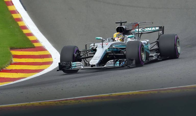Lewis Hamilton no GP da Bélgica.