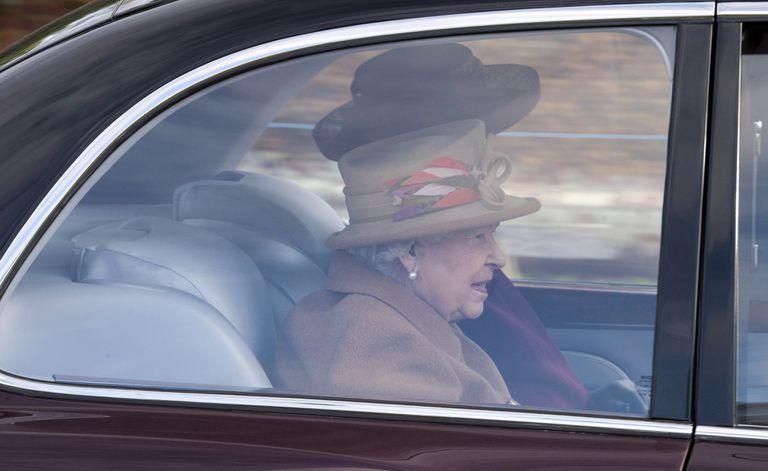 A rainha Elizabeth II, neste domingo.