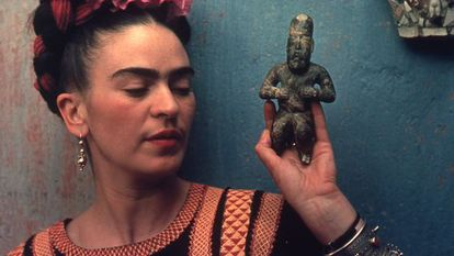 A artista mexicana Frida Kahlo.