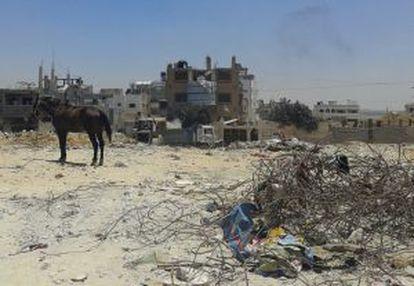 Sucata recolhida em Gaza.