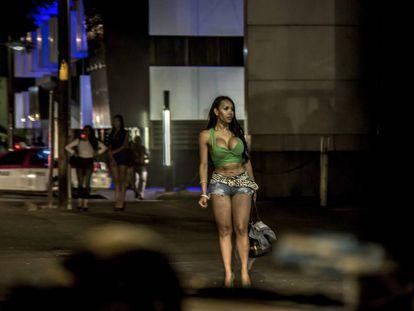 Uma mulher transexual em Tlalpan, na Cidade do México.
