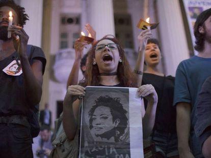 Marcha no Rio, no dia 16, em homenagem à Marielle Franco.