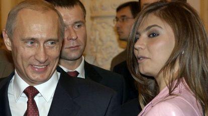 O presidente Vladimir Putin com Alina Kabaeva.