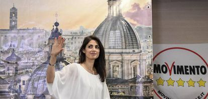 Virginia Raggi, prefeita de Roma, do Movimento 5 Estrelas.