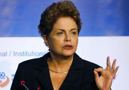 Dilma Rousseff, nesta terça-feira em São Paulo.