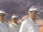 FILE PHOTO: Mexico's President Andres Manuel Lopez Obrador supervises the construction of the state-run oil company Pemex refinery at the Gulf coast port of Dos Bocas, in Paraiso, Tabasco state, Mexico December 6, 2019. Mexico's Presidency/Handout via REUTERS ATTENTION EDITORS - THIS IMAGE WAS PROVIDED BY A THIRD PARTY. MUST CREDIT MEXICO'S PRESIDENCY. MANDATORY CREDIT. NO RESALES. NO ARCHIVES./File Photo