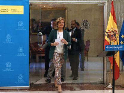 A ministra do Emprego da Espanha, Fátima Báñez