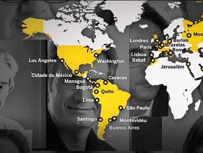 O EL PAÍS tem 17 correspondentes internacionais e dezenas de colaboradores em todo o mundo, além de redações no México e Brasil.