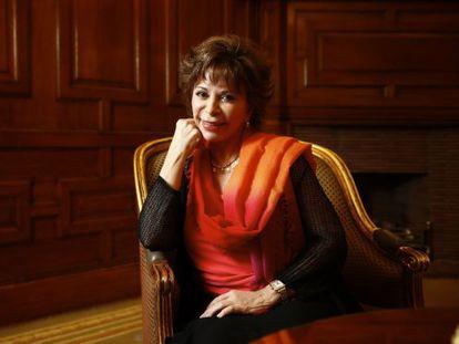 A escritora Isabel Allende, em Madri.