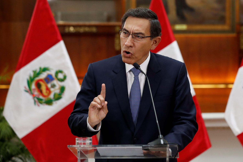 O presidente do Peru, Martín Vizcarra.