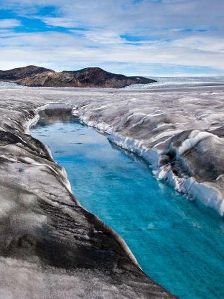 Um glaciar da Groenlândia.