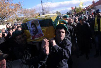 Funeral, no dia 29 de novembro, de um miliciano do Hezbollah morto em combate na Síria.