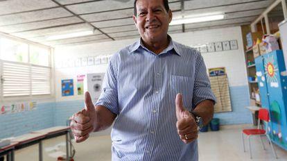 O general da reserva Hamilton Mourão, vice-presidente eleito.