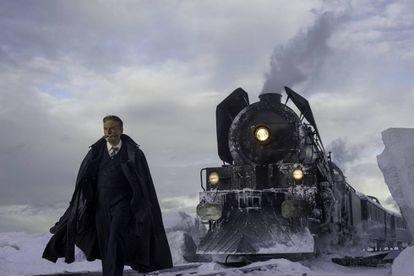 Kenneth Branagh, em uma imagem de 'Assassinato no Expresso do Oriente'.