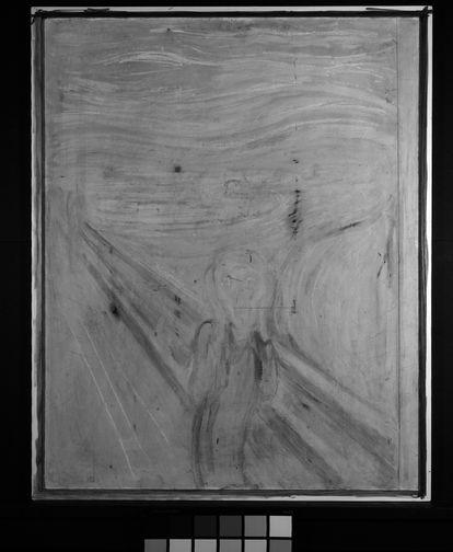 Fotografia infravermelha de 'O grito', de Edvard Munch.