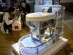Um dos modelos de vaso sanitário apresentados na feita de Pequim.