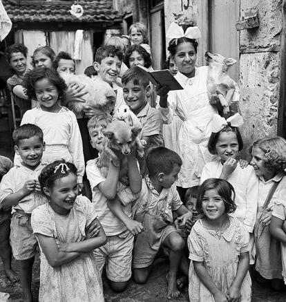 """Foto para a reportagem """"Santo Amaro, refúgio de paulistanos"""", em 1948."""