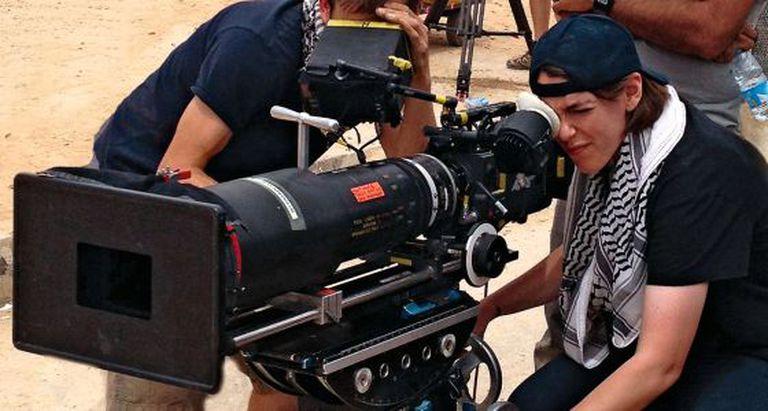 A diretora Megan Ellison na filmagem de 'A hora mais escura'.