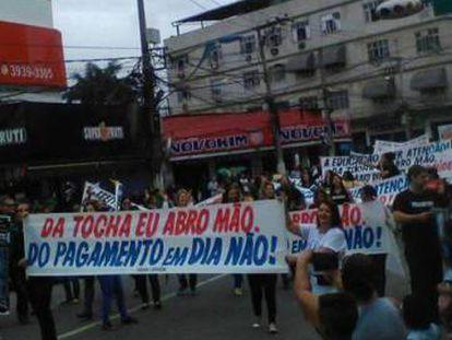 Protesto em Duque de Caxias.