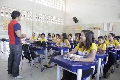 Estudantes da cidade de Sobral, no Ceará.