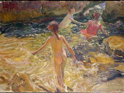 """""""O Banho"""", de Joaquín Sorolla, uma das obras liberadas pelo Met."""