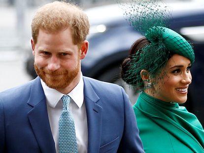 Harry e Meghan, os duques de Sussex, em março em Londres.