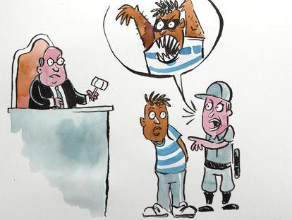 Arte feita para a série animada sobre a guerra às drogas.