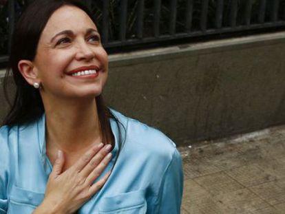 María Corina Machado, em uma imagem de 2014.