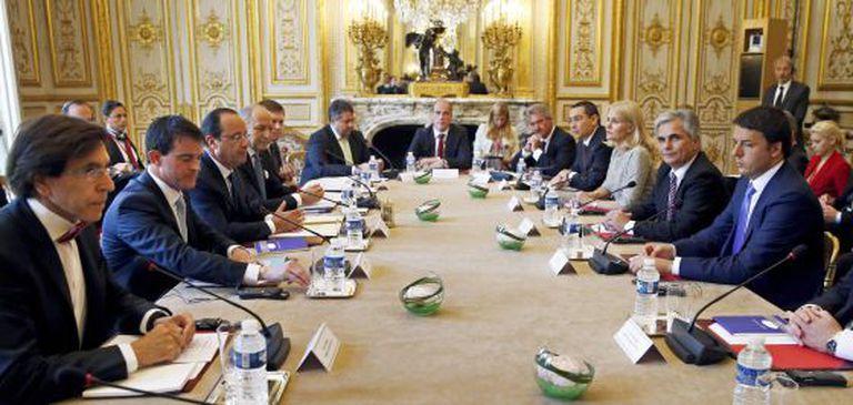 Os oito chefes de Governo socialistas da Europa.