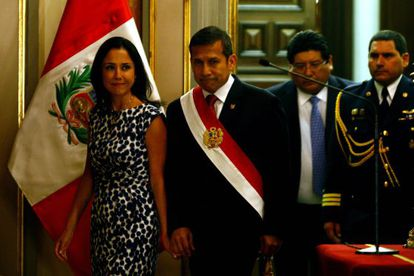 Nadine Heredia e seu marido, o presidente do Peru, Ollanta Humala.
