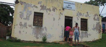 Igreja evangélica em região litorânea da Bahia.