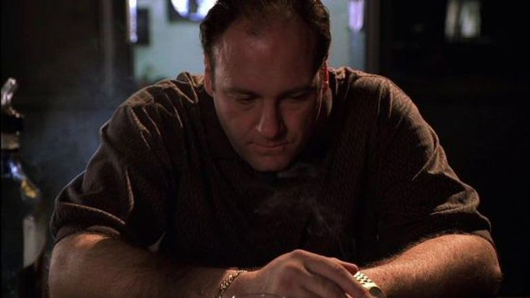 James Gandolfini no papel de Tony Soprano