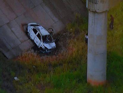 Imagem do carro do embaixador mostrada pela TV Globo.