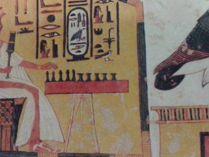 A rainha Nefertari, pintada na sua tumba em Luxor.