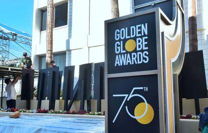 Preparativos no Beverly Hilton Hotel, em 5 de janeiro, para a festa do Globo de Ouro.