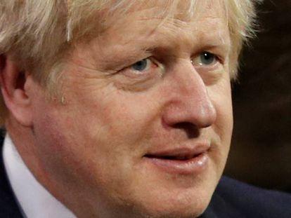 Boris Johnson no Parlamento britânico.