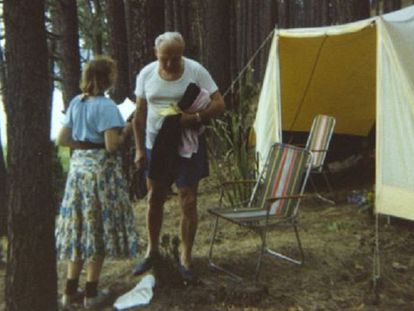 João Paulo II e sua amiga, a filósofa Anna-Teresa Tymieniecka.
