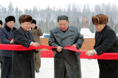 Kim, durante a inauguração.