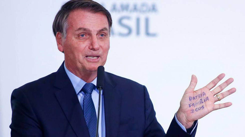 O presidente Jair Bolsonaro em um ato em Brasília no último dia 7.