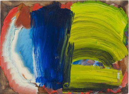 Uma pintura de Howard Hodgkin, cuja obra Larry Gagosian expõe em Paris.