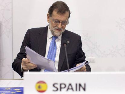 Mariano Rajoy, durante a cúpula em Malta.