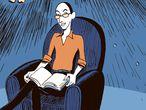"""Ilustración de Portada del suplemeno Ideas 25/10/2020. Edición ilustrada del libro  """"Sapiens"""" de Yuval Noah Harari"""