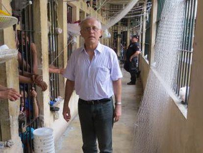 Valdir durante visita ao presídio de Redenção (PA).